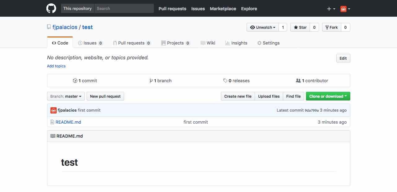 Repositorio de GitHub creado correctamente
